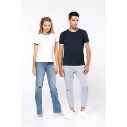 T-shirt maille piquée col rond femme - Kariban