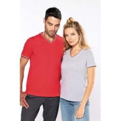 T-shirt maille piquée col V femme - Kariban
