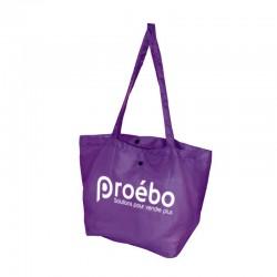 Sac réutilisable polyester pliable violet -...