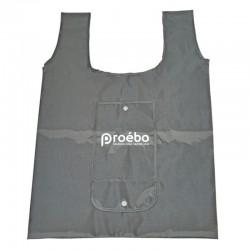 Sac polyester bretelle pliable gris - 38x13x57 cm - Personnalisable
