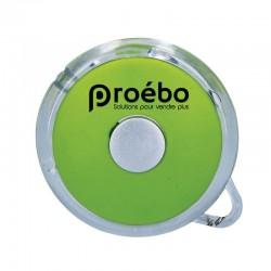 Porte clé lampe rond vert - Personnalisable