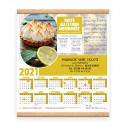 Calendrier baguette 32.5x38 cm - Motif recettes...