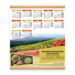 Calendrier baguette - Motif les thés a travers le monde