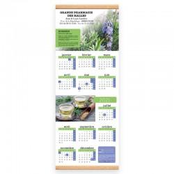 Calendrier baguette 25 x 65 cm - Motif les plantes medicinales a cultiver chez soi