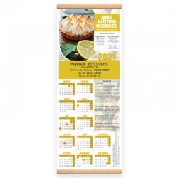 Calendrier baguette 25 x 65 cm - Motif recettes de saison