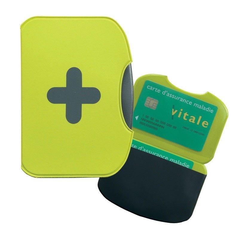 Porte carte flashy 155x110 mm vert anis