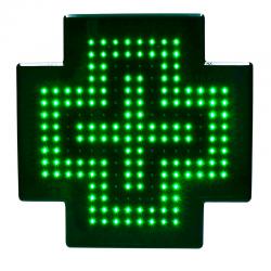 Mini croix de pharmacie led monochrome 39x39 cm