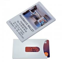 Porte carte vitale PVC rigide blanc - personnalisable - 9x5,8 cm
