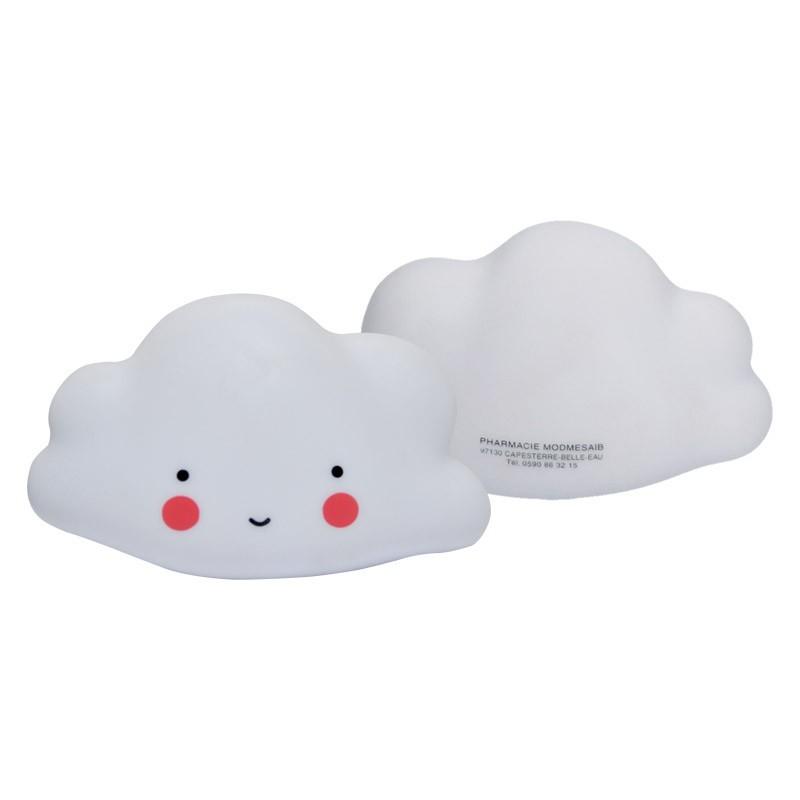 Veilleuse lumiere  nuage 15x8.5x8cm pvc blanc
