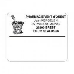 Etiquette pharmacie 50x40