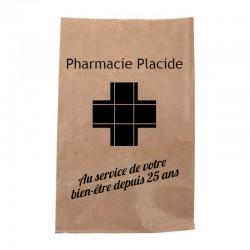 Sachet papier pharmacie kraft brun vergé - personnalisable - 18x12x29 cm