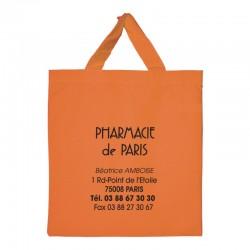 Sac réutilisable coton anse courte orange -...