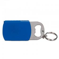 Porte cle lampe metre ruban decapsuleur 80x32x8mm bleu