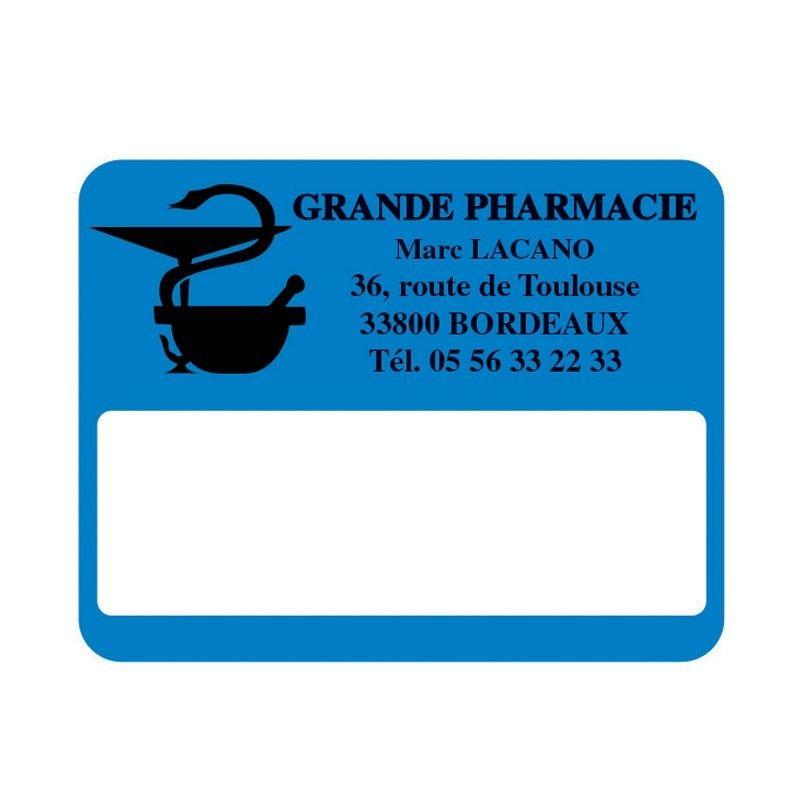 Etiquette pharmacie 45x35