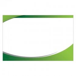 Carte de visite 8.5x5.4cm blanc papier mat-coins carres non pellicule