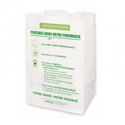 Sachet papier pharmacie kraft blanc - Impression DEPISTAGE COVID 19 -...