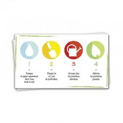 Calendrier papier ensemence de poche
