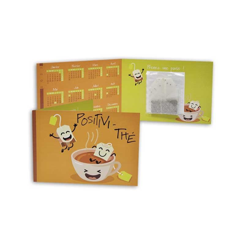 Calendrier de poche - Motif positivi thé