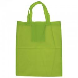 Sac polyester basic vert anis 34 x 41 - poignee 54 x 2.5 cm
