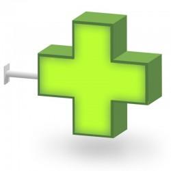 Croix de pharmacie Drapeau