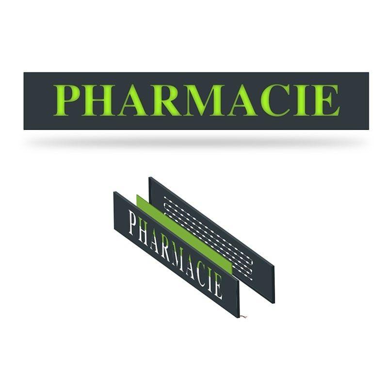 Enseigne pharmacie en lettres plexi