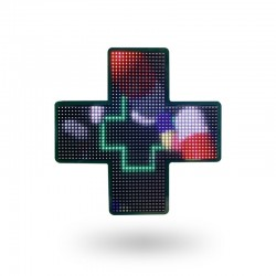 Mini croix pharmacie programmable 50,8x50,8 cm