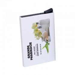 Porte multicarte rfid - blanc - 9.5x6cm
