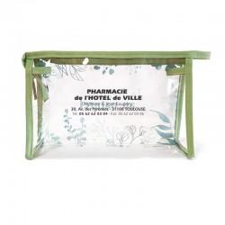 Trousse transparente beaute beige 23x15x7 cm