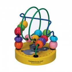 Boulier bois - 10x10x12cm - jaune