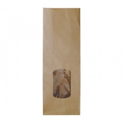 Sachet papier pharmacie kraft brun herbes aromatiques - personnalisable - 8+4x21 cm