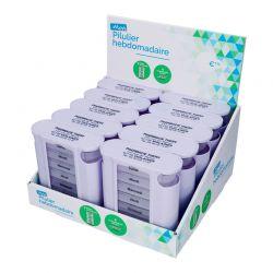 Présentoir avec 10 piluliers hebdomadaires