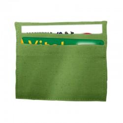 Porte carte coton green 90 x 105 mm