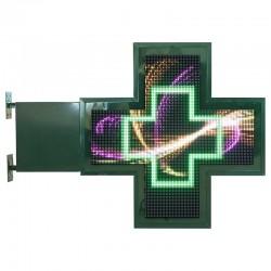 Croix lumineuse pharmacie 108x108cm