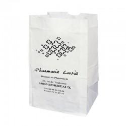 Sachet papier sos blanc 18x12x29 cm - kraft blanc 50 gr / m²