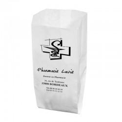 Sachet papier blanc 15x8x29 cm - kraft blanc 40 gr / m²