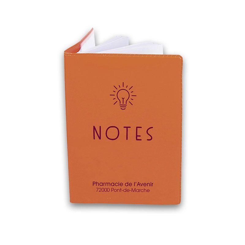 Bloc note cadeau pharmacien vernis orange