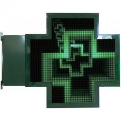 Croix diode pharmacie très haute définition 118x118 cm