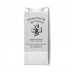 Sachet papier blanc 12x6x26 cm - kraft blanc 40 gr / m²