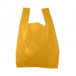 Sac plastique bretelle orange 26x12x45 cm - plastique expanse bd 50 microns