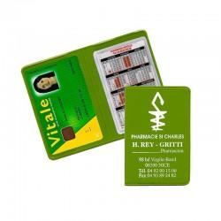 Porte carte vitale vert anis 13,2x9,6 cm - pvc