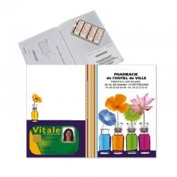 Garde ordonnance blanc colorfeel peps + 1 emp carte vitale 23,7x17 cm - pvc mat