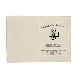 Porte ordonnance coton naturel - personnalisable - 23,7x17 cm