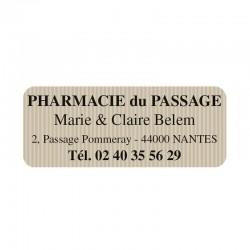 Étiquette posologie  3,2x1,9 cm