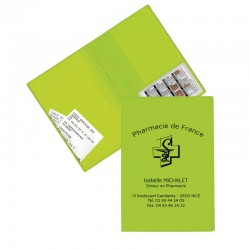 Garde ordonnance vert anis + 1 emp carte vitale 23,7x17 cm - pvc mat