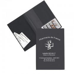 Garde ordonnance gris anthracite  + 1 emp carte vitale 23,7x17 cm - pvc mat