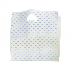 Sac plastique pharmacie blanc - motif canard - 60x15x65 cm