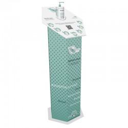 Totem distributeur de gel hydroalcoolique (livré avec 6 bouteilles de 480 ml)