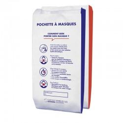 Sachet papier pour pochette à masque 12x6x26 cm