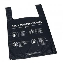 Sac liasse bretelle pour masques usagés 25x3x37 cm
